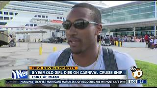 8-year-old girl dies on Carnival Cruise ship - Video