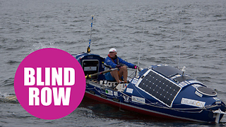 Former Royal Marine begins his attempt to be the first blind person to row the Pacific - Video