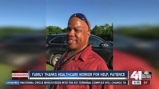 Family thanks health care worker for help, patience