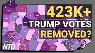Exclusive: Over 423,000 Votes Removed From Trump in Pennsylvania, Data Scientists Say