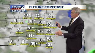 Spotty morning showers Saturday
