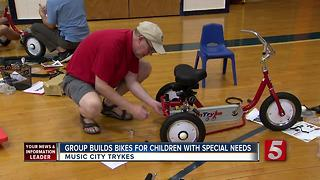 Music City Trykes Builds Bikes For Disabled Children - Video