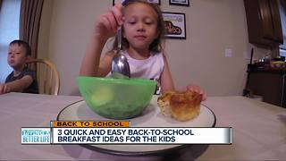 3 quick and easy back-to-school breakfasts for the kids that are also healthy