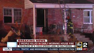 Woman, 4-year-old child killed in NE Baltimore house fire - Video