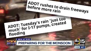 ADOT working to keep Valley freeways safe during monsoon season - Video