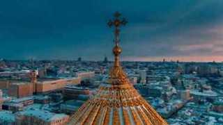 Haunting Drone Footage Captures a Frozen Moscow City - Video