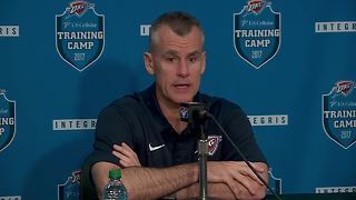 Coach Billy Donovan at Oklahoma City Thunder at media day - Video
