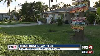 Drug bust near Cape Coral park - Video