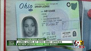Long lines at Ohio BMV offices - Video