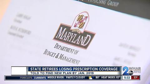 Maryland state retirees losing prescription coverage in 2019