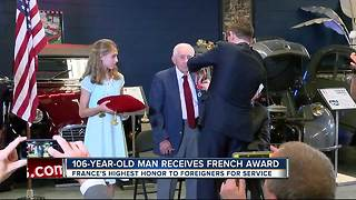 106-year-old man receives French Award - Video