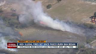 More than 400 illegal fires set since Pasco burn ban - Video