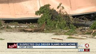 Garage Destroyed by suspected drunk driver in Fort Myers - Video