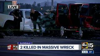 Five vehicles involved in deadly Glendale crash - Video