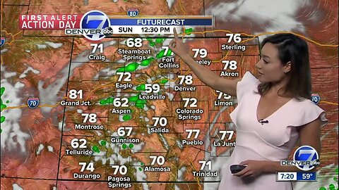 Another round of late-day showers and storms Father's Day