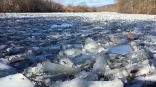 Housatonic River Ice Jam Brings Flooding to Connecticut - Video