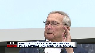 Oakland County Executive L. Brooks Patterson says he has stage-4 pancreatic cancer