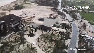 Video shows damage from Hurricane Dorian