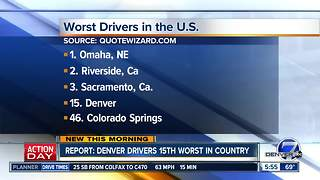 Report: Denver drivers 15th worst in country - Video