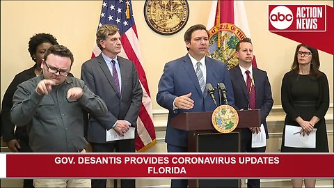 Gov. DeSantis provides more information on coronavirus cases in Florida