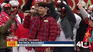 Chiefs QB Patrick Mahomes: 'We're the champs, baby!'
