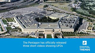 The Pentagon has officially released three short videos showing UFOs.