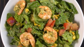 Treat yourself with a rich shrimp avocado salad