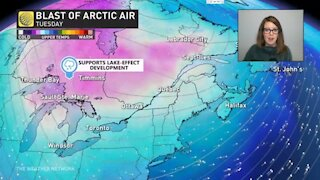 A B.C. windstorm, lake effect snow, and storm surge all part of Monday's weather
