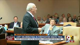 Jury deliberating in firefighter death trial - Video