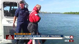 Coast guard training for water rescues