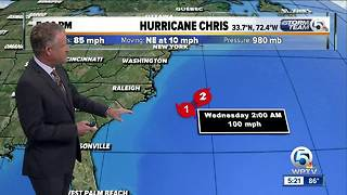 Hurricane Chris forms - Video