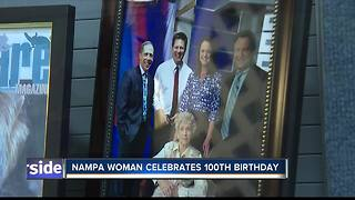 Nampa woman celebrates 100th birthday and tours 6 On Your Side - Video