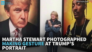 Martha Stewart Photographed Making Gesture At Trump's Portrait