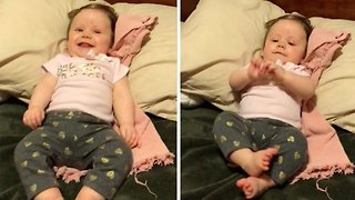 Adorable Five-Month-Old Baby Dances On Command