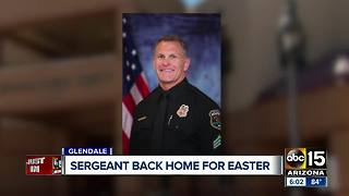 Glendale sergeant shot by felon released from hospital - Video