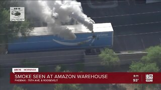 Chemical leak causing smoke at Amazon warehouse