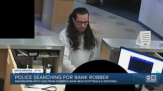 Scottsdale police looking for bank robber