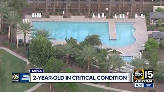 Two-year-old pulled from pool in Gilbert in critical condition - Video