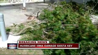 Hurricane Irma damage in Siesta Key