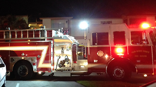 Condo fire in suburban West Palm Beach sends 2 people to hospital - Video