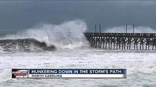 North Carolina residents ride out the storm - Video