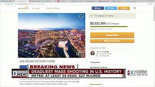 Las Vegas victims fund GoFundMe page now up over 2.5 million dollars - Video