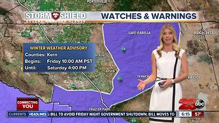 Rain and snow overnight in Kern County - Video
