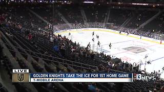 UPDATE: Fans excited despite Vegas Golden Knights loss in first home game - Video