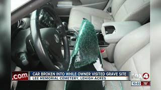 Woman's car broken into while she visits grave at Lee Memorial Cemetery - Video