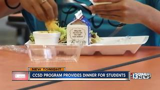New CCSD program provides dinner for students - Video
