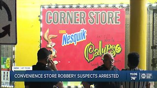 2 arrested after they rob two convenience stores in Tampa, police say