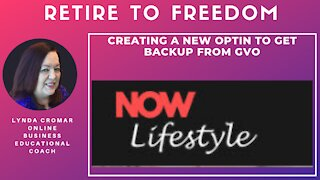 Creating A New Optin To Get Backup From GVO