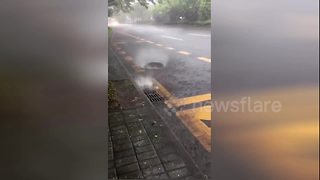 Levitating manhole cover takes Chinese internet by storm - Video