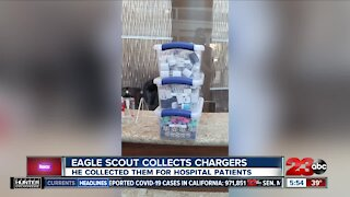 Kern County Eagle Scout donates phone chargers to local hospitals